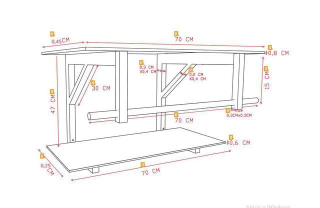 Imagem de Gabinete de vidro 70cm iq inox com cuba quadrada - dourado real