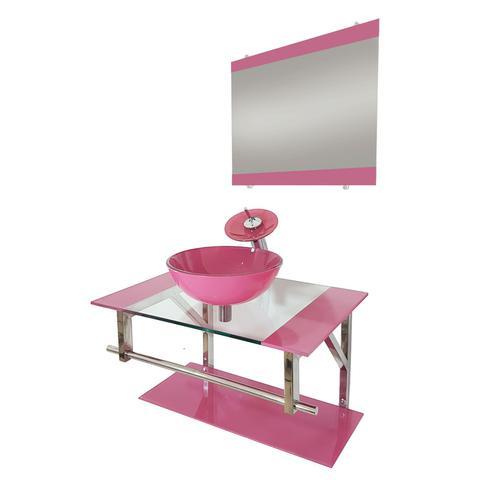 Imagem de Gabinete de Vidro 70cm para Banheiro Bulgária