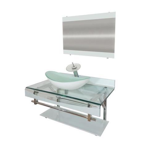 Imagem de Gabinete de Vidro 70cm para banheiro Holanda
