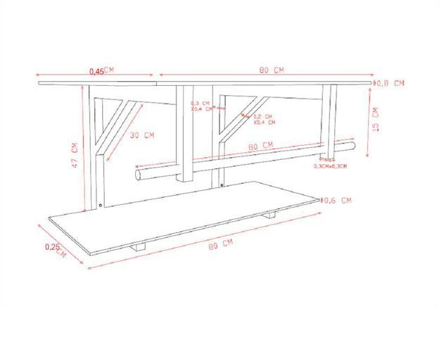 Imagem de Gabinete de vidro 80cm iq inox com cuba quadrada - grafite