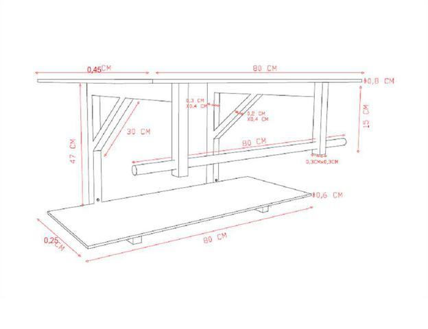 Imagem de Gabinete de vidro 80cm iq inox com cuba retangular - grafite