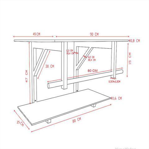 Imagem de Gabinete de vidro 90cm iq inox com cuba quadrada - branco