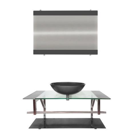 Imagem de Gabinete de Vidro 90cm para Banheiro Itália