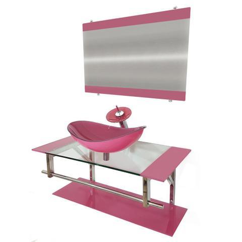 Imagem de Gabinete de Vidro 90cm para Banheiro Romênia