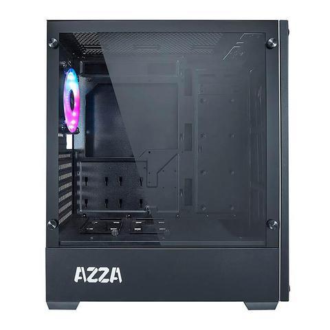 Imagem de Gabinete Gamer AZZA Apollo 430DF Lateral de Vidro LED RGB Preto, CSAZ-430B-DF2