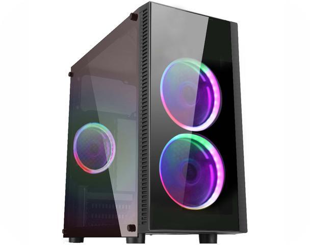 Imagem de Gabinete Gamer CG-02RA Narnia com ventilação double ring LED K-MEX