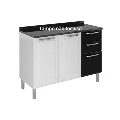 Imagem de Gabinete Itatiaia IG3G2-120 p/ Pia s/ Tampo Cor Branco c/ Preto