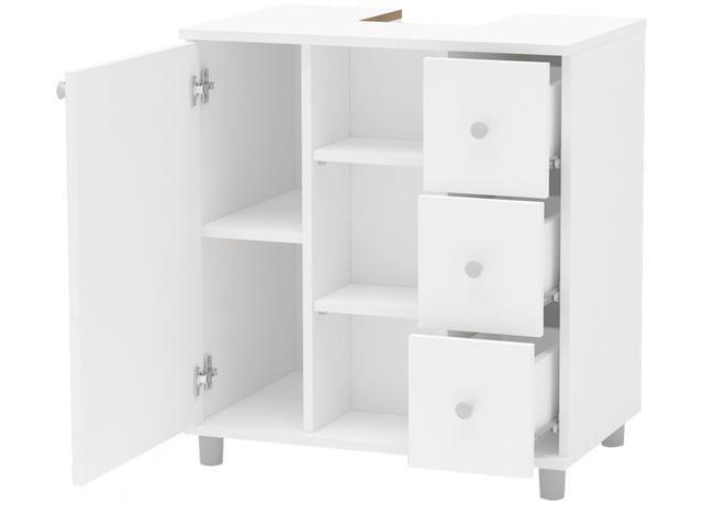 Imagem de Gabinete para Banheiro 1 Porta 3 Gavetas