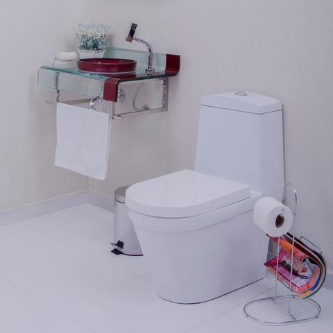 Imagem de Gabinete para Banheiro de Vidro Mini Chopin Astra Vermelho