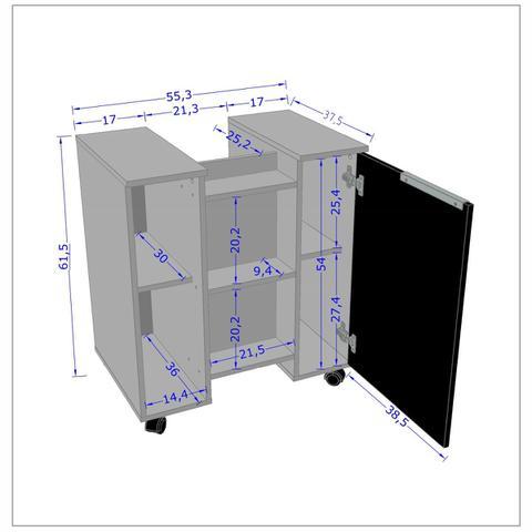 Imagem de Gabinete para Banheiro Gales Madeira e 3D