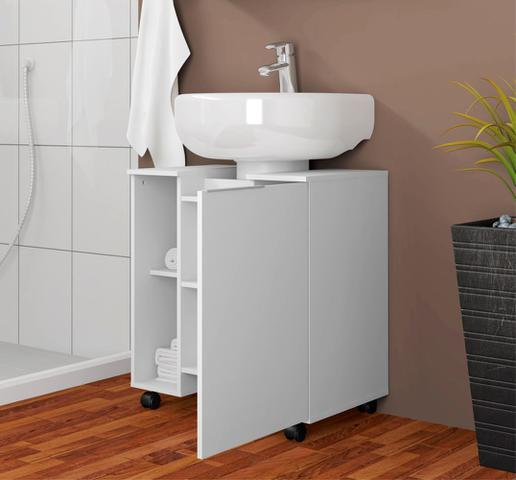 Imagem de Gabinete Para Banheiro Geel Branco