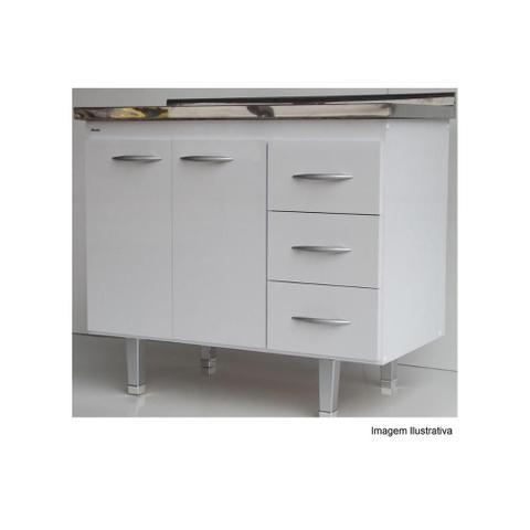 Imagem de Gabinete para Pia de Cozinha 144x70cm Milano Branco