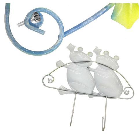 Imagem de Gancho de Ferro Duplo Para Chapeu Bolsa Bone Enfeite Sapinhos Infantil Pendura Kit Com 2 (pt-c-c)