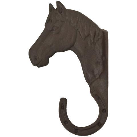 Imagem de Gancho de Metal Avulso Importado Cabeça de Cavalo Marrom