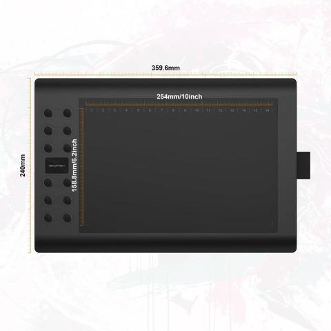 Imagem de Gaomon M106k - Mesa Digitalizadora Profissional 10 Polegadas Tablet Desenho Digital