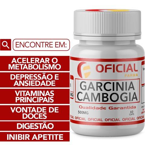 Imagem de Garcinia Cambogia 500Mg 60 Cápsulas