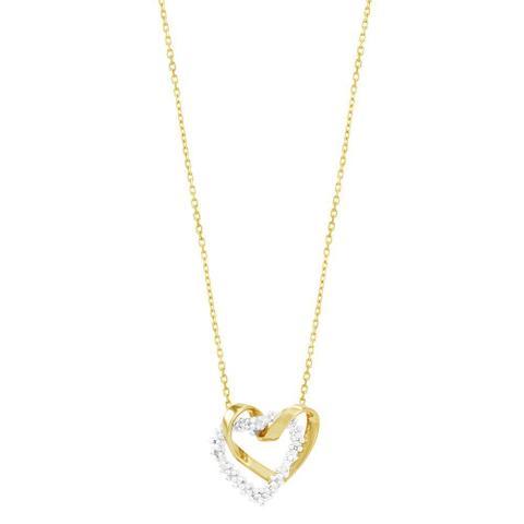 Imagem de Gargantilha em Ouro 18K Corações com Diamantes - AU2693