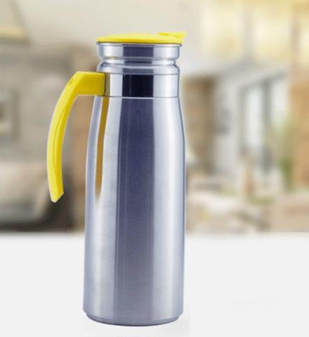 Imagem de Garrafa Inox 1,5 Litros com Tampa  Jarra para Água ou Suco em Inox  Azul