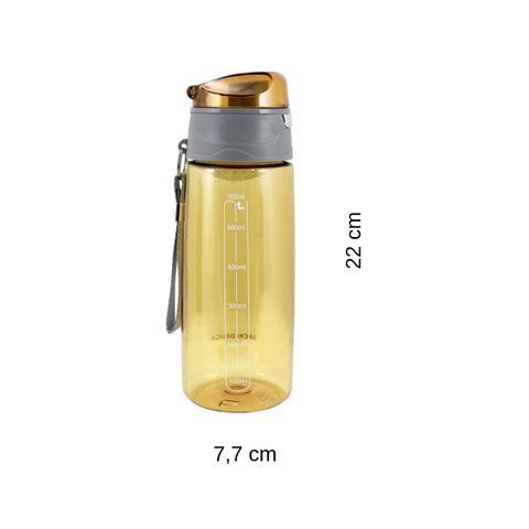 Imagem de Garrafa Squeeze 700ml com Alça e Trava Amarelo Jacki Design