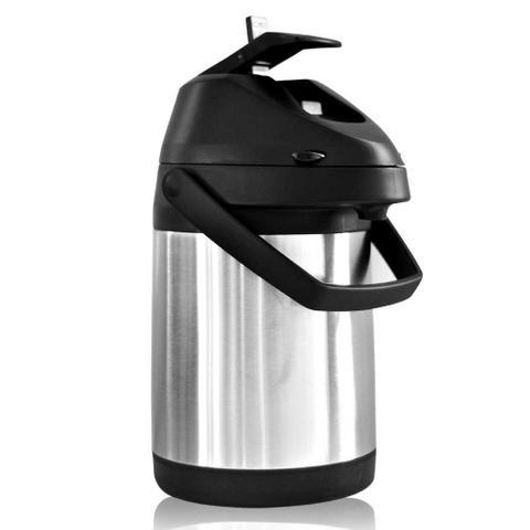Imagem de Garrafa Térmica Aço inox Inquebrável com Alavanca 2,5 litros