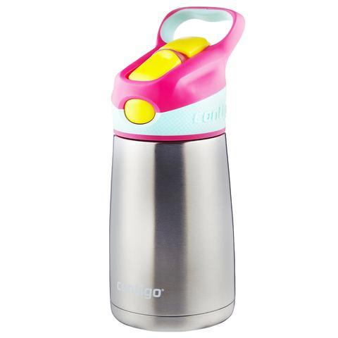 Imagem de Garrafa Térmica Infantil 295 ml Contigo Striker Chill Rosa com Bico e Canudo Retrátil