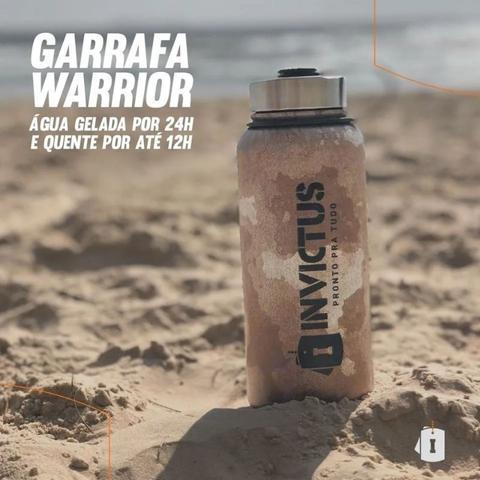 Imagem de Garrafa Térmica Warrior 950ml Invictus Preta Tática Cantil
