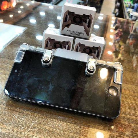Imagem de Gatilho Free Fire Botões R1 L1 Jogo de Tiro Para Celular Par de Joystick