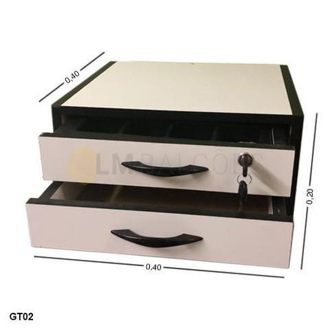 Imagem de Gaveta Dinheiro Manual MDF - 0,40 x 0,20 x 0,40 com divisor de cedulas