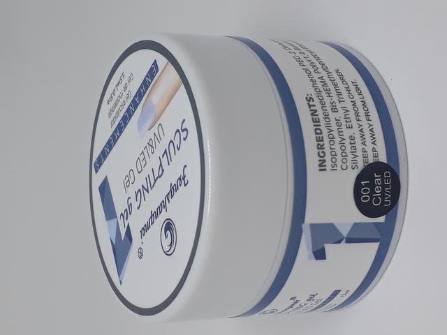 Imagem de Gel unhas uv led fengshangmei acrigel fibra porcelana transparente 15ml