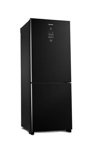 Imagem de Geladeira Bottom Inverse Inverter Panasonic 425 Litros Frost Free Black Glass BB53 - 110V