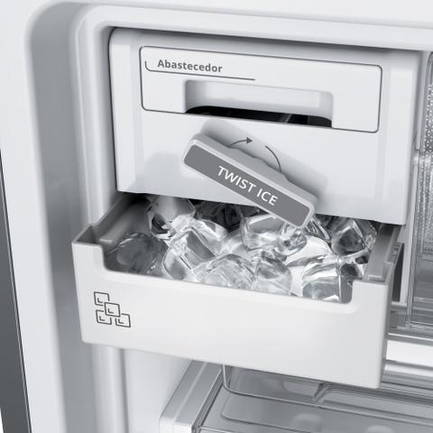 Imagem de Geladeira Brastemp Frost Free Inverse 443 litros cor Inox com Turbo Ice