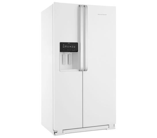 Imagem de Geladeira Brastemp Frost Free Side by Side 560 litros Branca com Dispenser de Água e Gelo