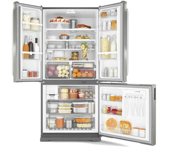 Imagem de Geladeira Brastemp Frost Free Side Inverse 540 litros cor Inox com Ice Maker