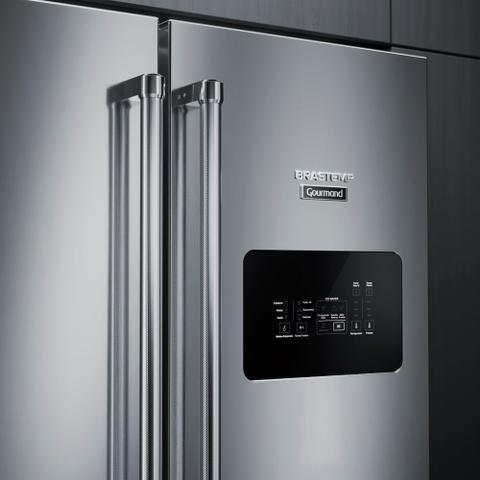 Imagem de Geladeira Brastemp Gourmand Frost Free Inverse 540 litros Inox 110V BRO81ARANA