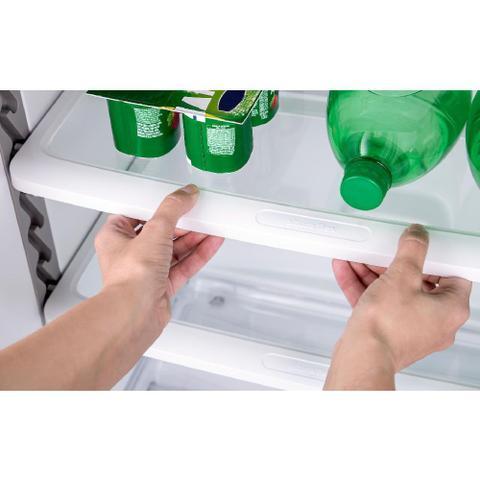 Imagem de Geladeira Consul Frost Free Duplex 386 litros cor Inox com Prateleira Dobrável
