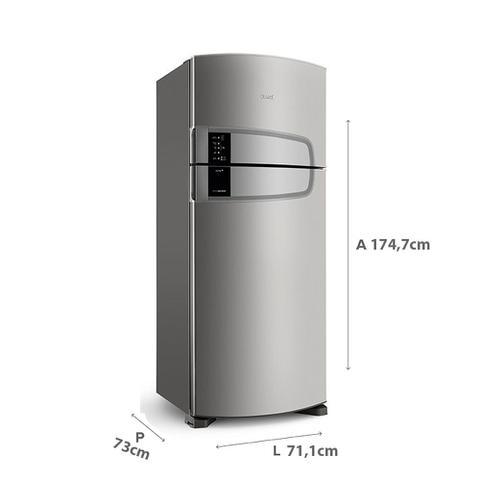 Imagem de Geladeira Consul Frost Free Duplex 405 litros cor Inox com Filtro Bem Estar