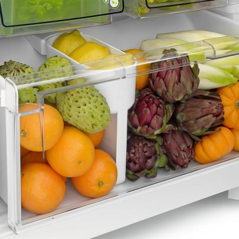 Imagem de Geladeira Consul Frost Free Duplex 437 litros cor Inox com Horta em Casa