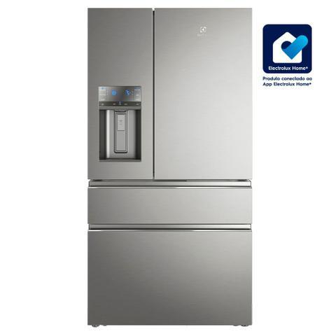 Imagem de Geladeira Frost Free Electrolux 540 Litros 3 portas Inverse Inverter Cor Inox com Wi-fi (DM91X)