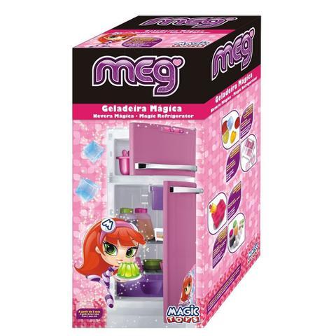 Imagem de Geladeira Magica Infantil Com Acessórios 2 Portas E Rodinhas 8051P MAGIC TOYS