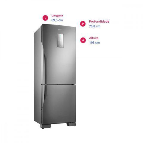Imagem de Geladeira Panasonic Degelo Frost Free Bottom Freezer 2 Portas NR-BB71PVFXB 450 Litros