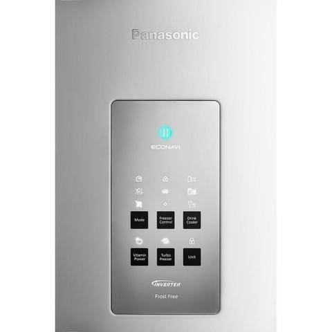 Imagem de Geladeira Panasonic Freezer Inverter Bottom 2 Portas Frost Free 425L NR-BB53PV3WB Branco