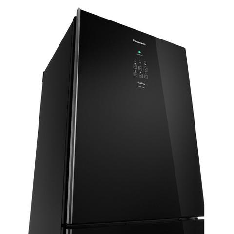 Imagem de Geladeira Panasonic Inverter Black Glass Frost Free 425 Litros Preto 110V NR-BB53GV3BA