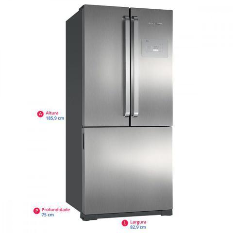 Imagem de Geladeira/Refrigerador Brastemp 540 Litros 3 Portas Frost Free Side by Side Inverse BRO80AK