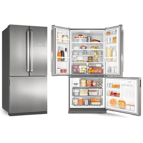 Imagem de Geladeira Refrigerador Brastemp 540 Litros 3 Portas Frost Free Syde Inverse Classe A Bro80Akana