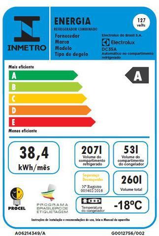 Imagem de Geladeira/Refrigerador Cycle Defrost 260L Branco (DC35A)