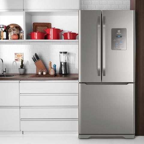Imagem de Geladeira Refrigerador Electrolux Freench Door Frost Free 579L DM84X 127V Cinza