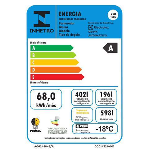 Imagem de Geladeira/Refrigerador Frost Free Inox Bottom Freezer 598L Electrolux (DB84X)