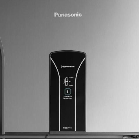 Imagem de Geladeira/Refrigerador Panasonic 387 Litros NR-BT40B, Frost Free, 2 Portas, Aço Escovado