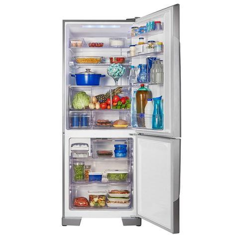 Imagem de Geladeira/Refrigerador Panasonic 425 Litros NR-BB53 Frost Free 2 Portas Tecnologia Inverter Aço Escovado