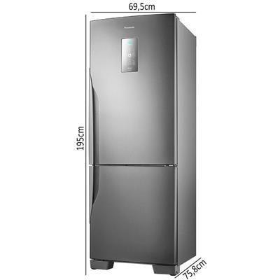 Imagem de Geladeira/Refrigerador Panasonic Frost Free 2 Portas NR-BB71PVFX 480 Litros Tecnologia Inverter Aço Escovado